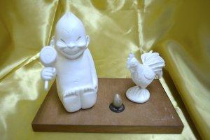画像1: 【1体限定!】ビリケンさんと金のタマゴを産む鶏
